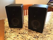 Realistic Minimus-7 Main Stereo Bookshelf Speakers Black 40-2030C 8 Ohm 40W RMS
