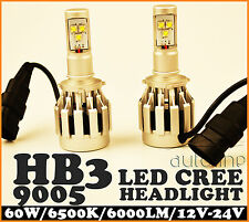 HB3 9005 LED 60W CREE 6000LM Car Xenon White Headlight Lamp Kit Globes Bulbs