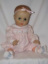 "Large 20"" Vintage Vinyl Molded Hair Baby Doll"
