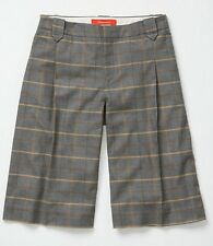 New ANTHROPOLOGIE $118 Gray Plaid TROUSERED BERMUDAS Shorts Culottes Sz 8