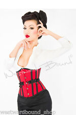 "**Westward Bound**UNDERBUST Burlesque BONED CORSET 20"" Fancy Dress GOTH B077RED"