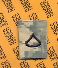 US ARMY Enlisted PRIVATE FIRST CLASS E-3 rank ACU jacket loop patch