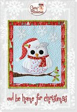 "Owl Be Home For Christmas Applique Quilt Pattern ~ Cherry Blossoms - 35"" x 63"""