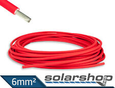 PV Kabel 6mm² Solar ROT Kable double isoliert TÜV zertifiziert