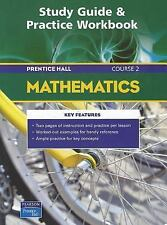 PRENTICE HALL MATH COURSE 2 STUDY GUIDE AND PRACTICE WORKBOOK 2004C by PRENTICE