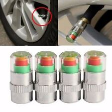 4 Car 2.4Bar Tire Pressure Monitor Valve Cap Sensor Indicator Eye Alert For FORD