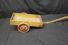 "Antique ""Jo-Cart"" 2 Wheeled Wooden Wagon Cart Children's Pull Toy w/ Wood Wheels"