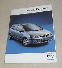 Mazda Premacy MPV Brochure 1999 - 1.8 GXi SR GSi 2.0 Diesel