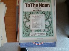 Edward MacDowell: To the Moon, op 28/3, piano solo (Century)