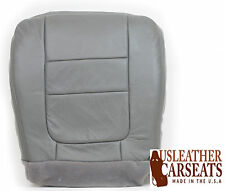 2001 Ford F250 F350 Lariat Quad Cab Driver Side Bottom LEATHER Seat Cover Gray