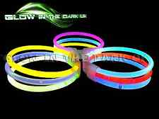"500 8"" GLOW BRACELETS GLOW STICKS ANKLETS NECKLACES GLOW PARTY FESTIVALS"