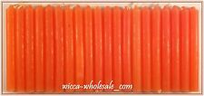 "LOT OF 20 ORANGE COLOR Chime Spell Candles Mini 4"" Pagan Wicca Ritual FREE SHIP"