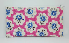 Cath Kidston Provence Rose Pink Oilcloth Make Up Bag Pencil Case Storage Pouch