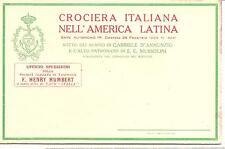 """Italy  Special Post Card For Use On """"Crociera Italiana"""" Warship Cruise 1924"""