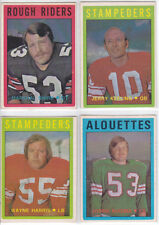 Lot of 4 Diff 1972 OPC O-Pee-Chee CFL Cards #'s 25, 53, 54 & 72 EX to EX-MT