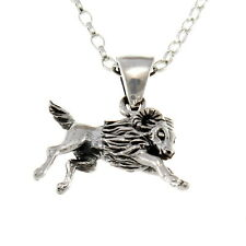 "Aries Sterling Silver Star Sign - The Ram Zodiac Pendant with 18"" Chain & Box"