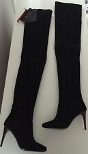Balmain X H&M Paris Overknees Stiefel boots Leder black leather 36 US 5,5 UK 3,5