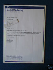 Sheffield Wednesday Correspondence Letter 1989 - re historical match details.