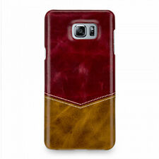TETDED Cowhide Leather Case: Samsung Galaxy Note 5 V -  Caen Venus: Red /Yellow