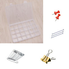 24 Compartments PlasticJewelry Bead  Case Box Storage Container Craft Organizer