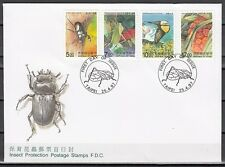 / China-Taiwan, Scott cat. 3117-3120. Insects issue on a First day cover.