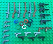 Lego GUNS AND MASKS Agents City Town Muscats Flint Revolvers Tommy Guns Pistols