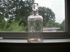 """DOMESTIC SEWING MACHINE CO """"BEST SEWING MACHINE OIL"""" 1890S HAND BLOWN BOTTLE"""