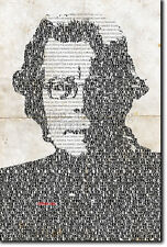 STEPHEN KING TYPOGRAPHIC POSTER UNIQUE ART PRINT PHOTO GIFT STEVEN