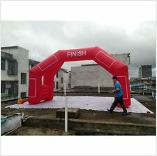 custom made 4 legs Red Inflatable Start Finish Line Arch with certified blower