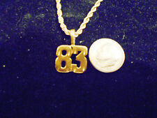 bling gold plated sport didget number 83 pendant charm chain hip hop necklace gp