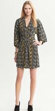 SUPER CUTE!!! New BANANA REPUBLIC ISSA LONDON Collection Olive Zebra Print Dress