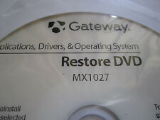 Driver Restore Disc Driver Recovery DVD for XP WINDOWS Gateway Laptop MX1027