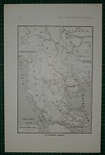 1916 WWI WW1 MAP ~ THE MACEDONIAN FRONTIERS SALONIKA ALBANIA MONTENEGRO