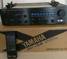 YAMAHA NATURAL SOUND STEREO AMPLIFIER AV-34 With Original Remote Control Manual