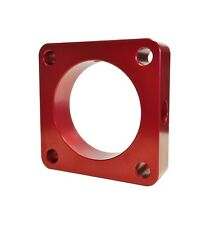 Torque Solution Throttle Body Spacer Red Mitsubishi EVO Evolution X 10 08-15