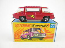 Matchbox Superfast 22 Freeman Commuter Red w/ Side Labels in G Box