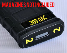 .300 AAC MAG STICKERS fits MAGPUL PMAG 30 GEN M3 AR15-M16-M4 YELLOW NUMBERS 1-6