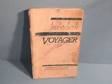 85 1985 Plymouth Voyager owners manual