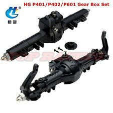 1/10 RC HG P401/P402/P601 Crawler Truck Axle Front + Rear Gear Box Set HG-BX02