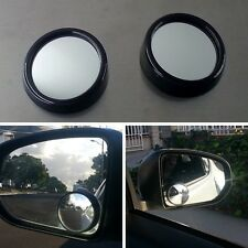 New Black 50mm 360 Rotation Adjustable Car Suv Truck Blind Spot Side Mirror x2