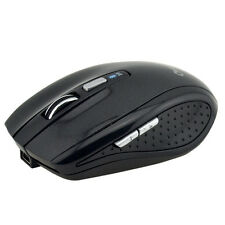 Black Ergonomic Non slip Wireless Mice Rechargeable Bluetooth 3.0 Optical Mouse