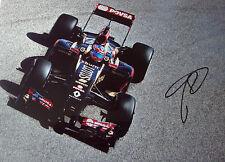 Romain Grosjean SIGNED 12x8  F1 Lotus-Renault E23 , Bahrain GP 2014
