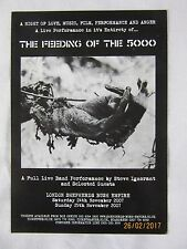 Steve Ignorant (Crass) - The Feeding Of The 5000 Promo Punk UK Gig Flyer (A5)