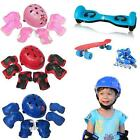Portable 7pcs Kid Child Self Balancing Bike Roller Knee Elbow Wrist Helmet Pad