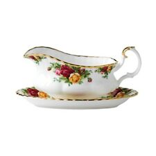 Royal Albert Old Country Roses Gravy Boat w/Stand