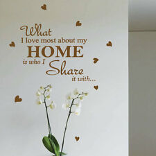 Family Home Love Heart Art Wall Stickers Quotes Wall Decals Wall Decoration 412