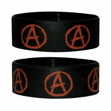 Official - Anarchy - Black Rubber Gummy Wristband