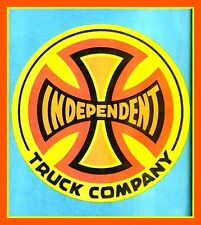 "2.75"" Vintage style 1980's INDEPENDENT TRUCK Skateboard sticker decal Longboard"