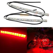 2pcs Red 12-SMD LED Strip Light for Car Motorcycle Under Glow Accent Lighting