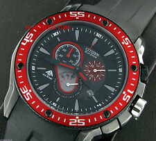 "NEW CITIZEN ECO-DRIVE MEN'S WATCH RED ACCENT PROMASTER AT0709-08E  ""US SELLER"""